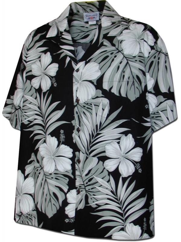 Рубашка гавайка Pacific Legend  410-3589  Black