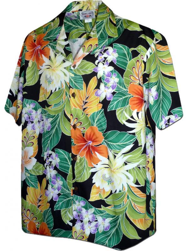 Гавайская рубашка Pacific Legend 410-3799 black