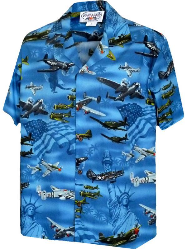Гавайская рубашка Pacific Legend 410-3820 Blue