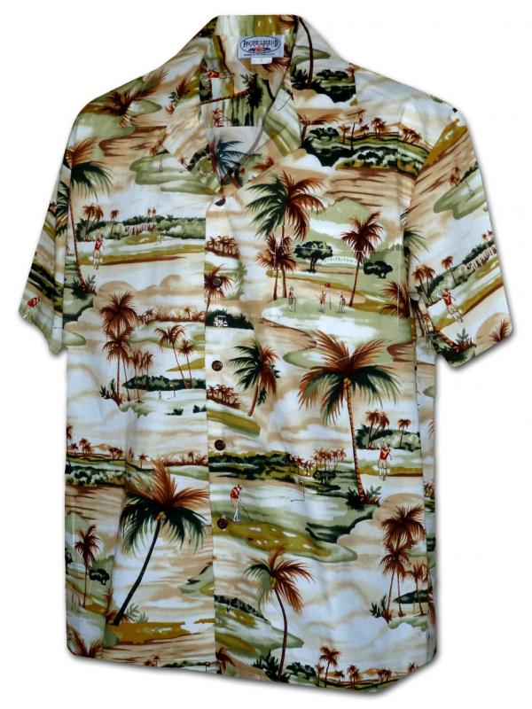 Гавайская рубашка Pacific Legend 410-3936 Khaki