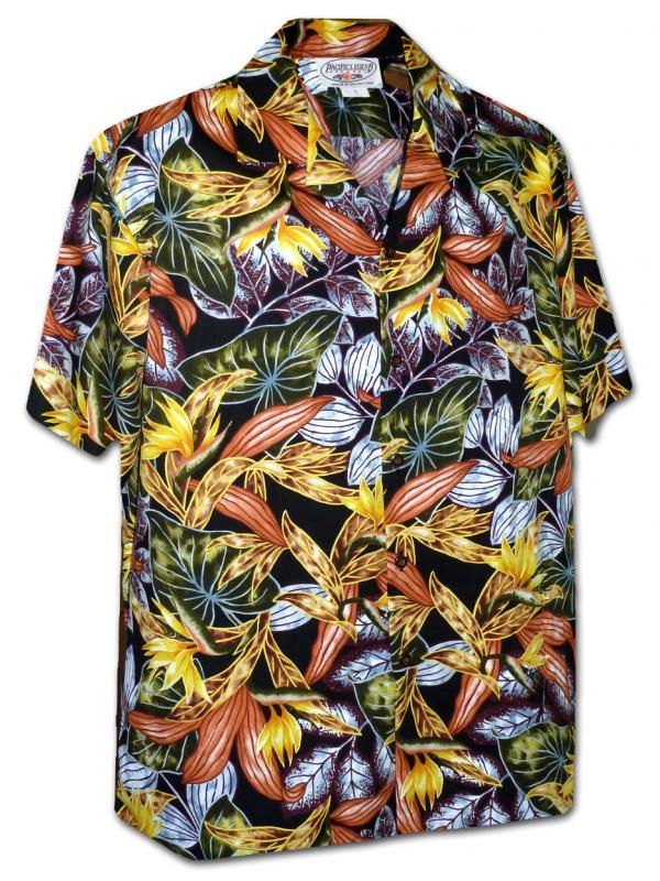 Рубашка гавайка Pacific Legend 410-3968 black