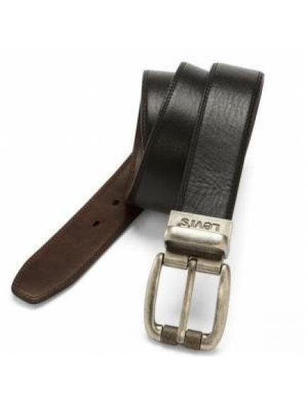 Ремень LEVIS  38 mm Cut Edge Brw/Blk Reversible Bridle Belt with Double Edge Stitch 11LV02HK