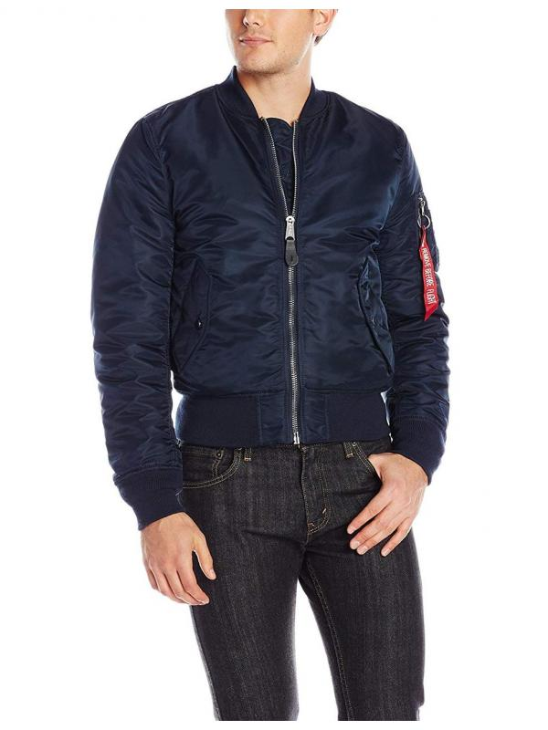 Мужская куртка Alpha Industries MA-1 Slim Fit  Replica Blue