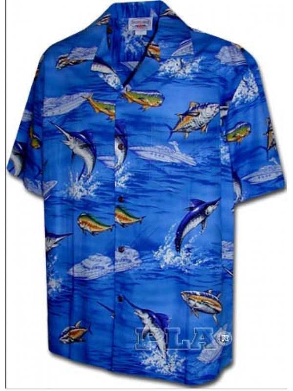 Рубашка гавайка Pacific Legend 410-3626 blue