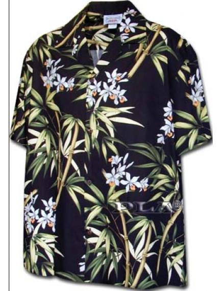 Рубашка гавайка Pacific Legend 410-3571 black