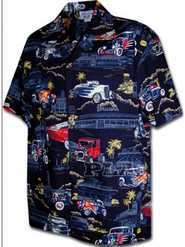 Рубашка гавайка Pacific Legend 410-3646 navy