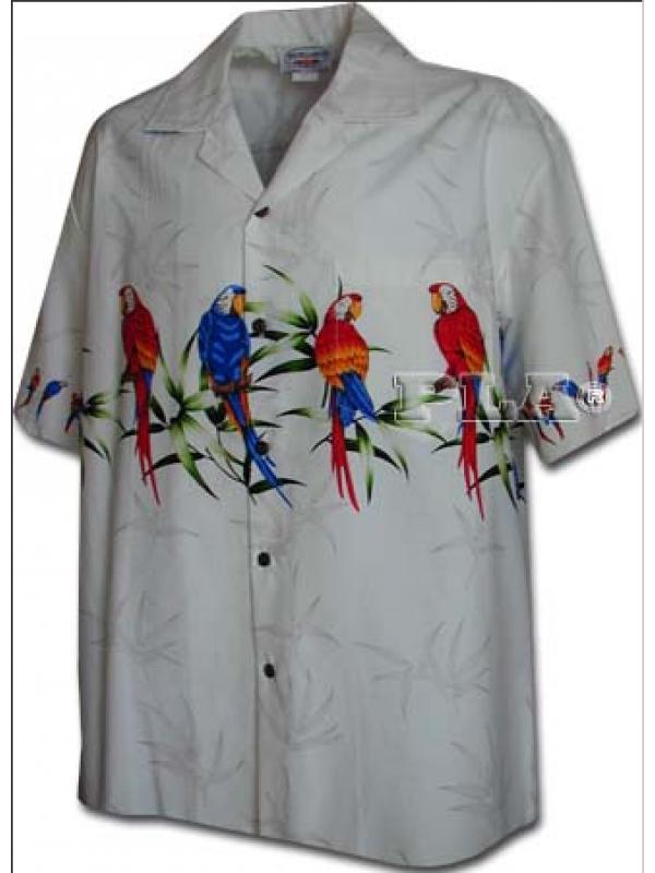 Рубашка гавайка Pacific Legend 440-3636 white