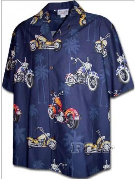 Рубашка гавайка Pacific Legend 442-3630 navy