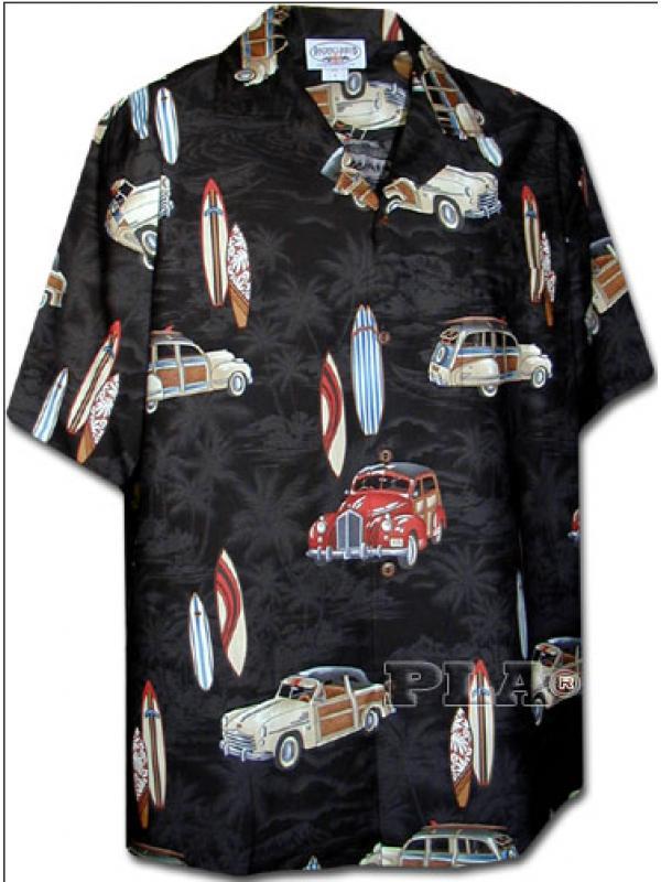 Рубашка гавайка Pacific Legend 442-3658 black
