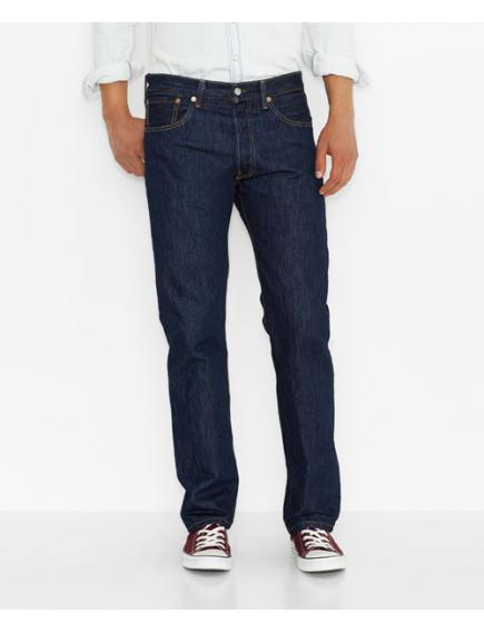 Мужские джинсы Levis Mens 501 Original Fit Jeans Rinse