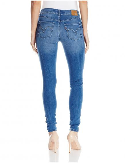 Женские джинсы  Levis 535 Slim-Fit Skinny Jean Legging Blue Crackle NEW