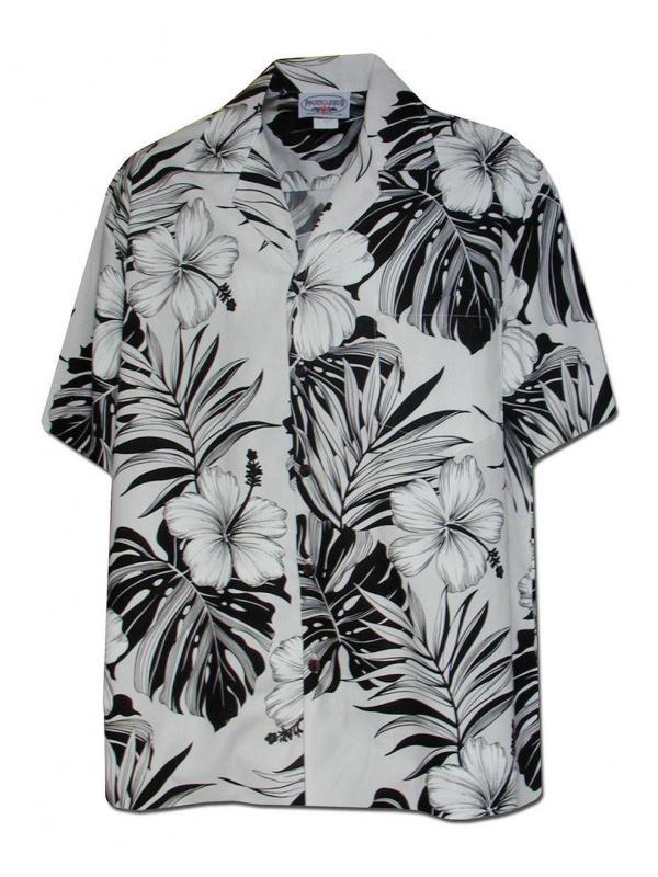 Рубашка гавайка Pacific Legend  410-3589 White