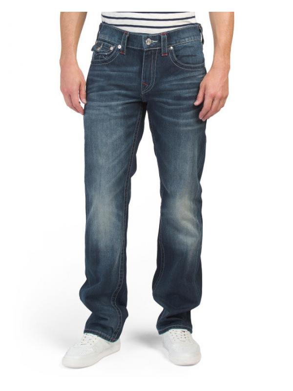Джинсы TRUE RELIGION Flap Pocket Contrast Stitching Straight Jeans