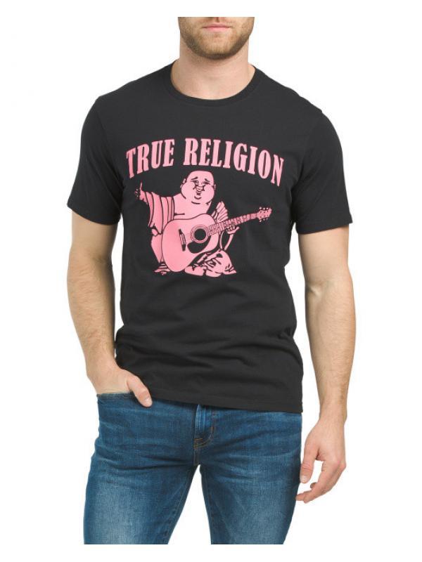Футболка TRUE RELIGION Neon Buddha Short Sleeve Crew Neck Tee