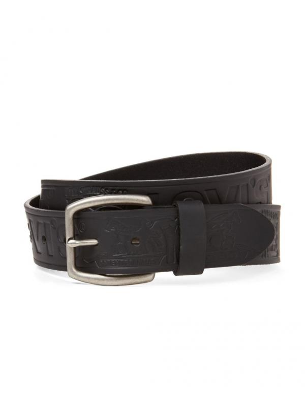 Ремень Levis Black Embossed Leather Strap 11LV320032