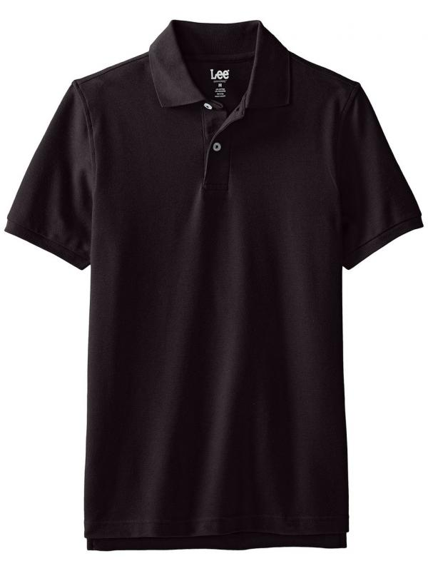 Поло Lee Mens Short-Sleeve Polo Shirt  Black
