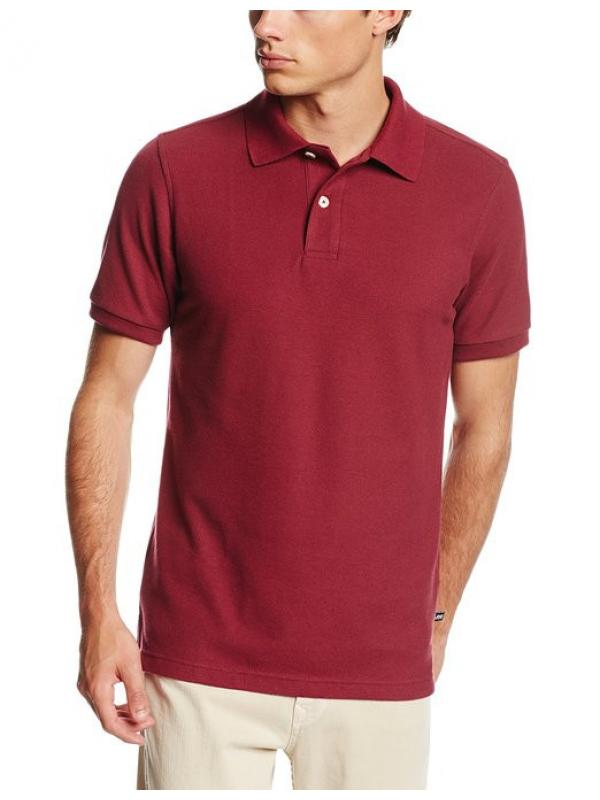Поло Lee Mens Short-Sleeve Polo Shirt  Burgundy А9440 Burgundy