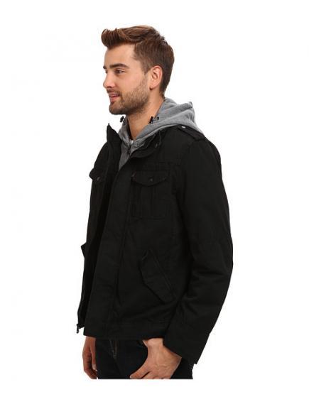 Levis Four-Pocket Shortie with Zip Out Fleece Hood зимняя куртка