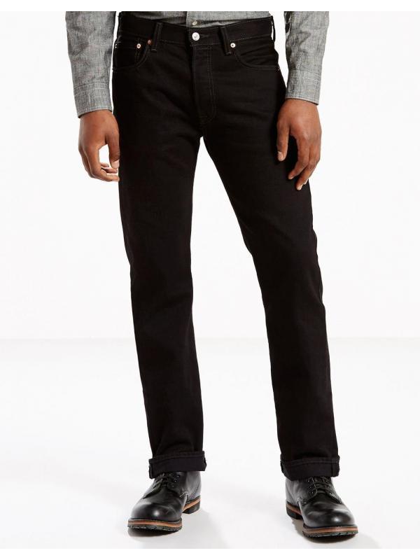 Мужские джинсы Levis Mens 501 Original Fit Jeans Black