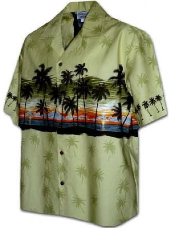 Гавайская рубашка Pacific Legend 440-3511 Sage