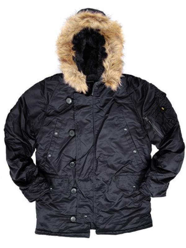Куртка Alpha N-3B Parka - Black