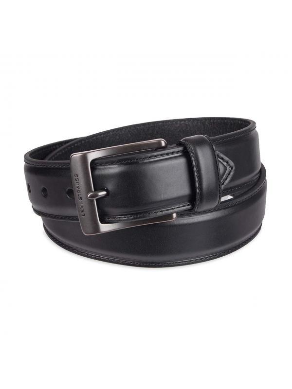 Ремень Levis Mens Leather Belt With Padded Center 11LV02QK black