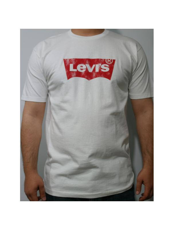Футболка Levis White Levis Mens Short Sleeve Logo 3LMS302 white