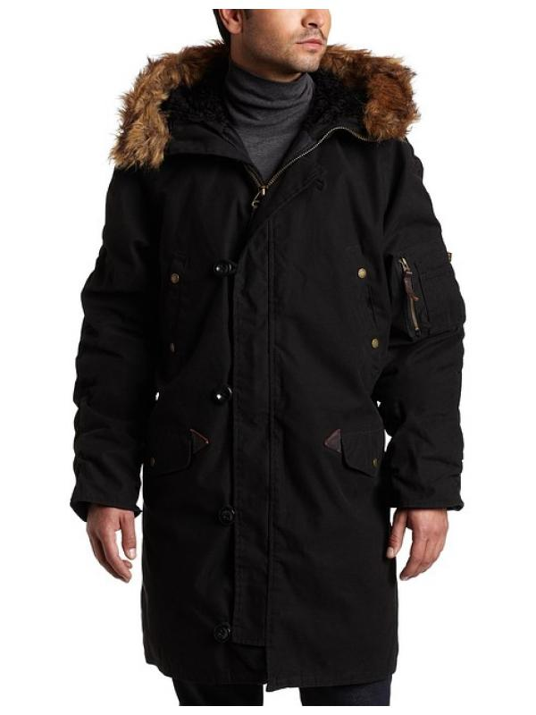 Куртка Alpha N-3B Slim Fit Cotton - Black