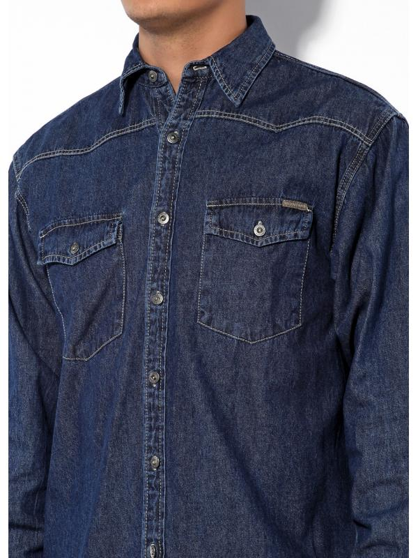Джинсовая рубашка Montana 11058
