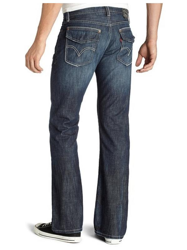 Levis 527 Boot Cut Jeans hot blue