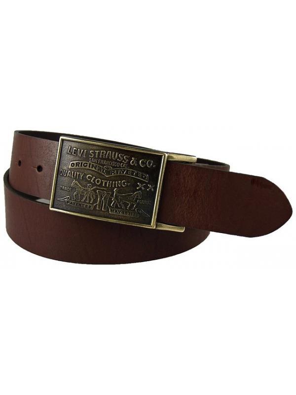 Ремень  Levis Leather Belt With Plaque Buckle  11LV0253 Brown
