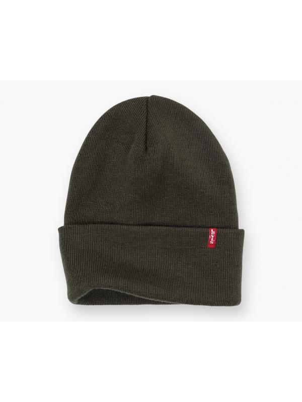 Шапка levis EVERYDAY BEANIE DARK GREEN