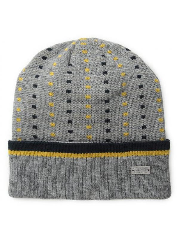 Шапка Levis Mens Birdseye Cuff Beanie Light Heather