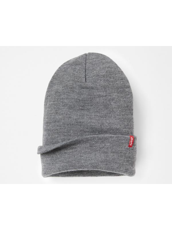 Шапка levis EVERYDAY BEANIE GREY