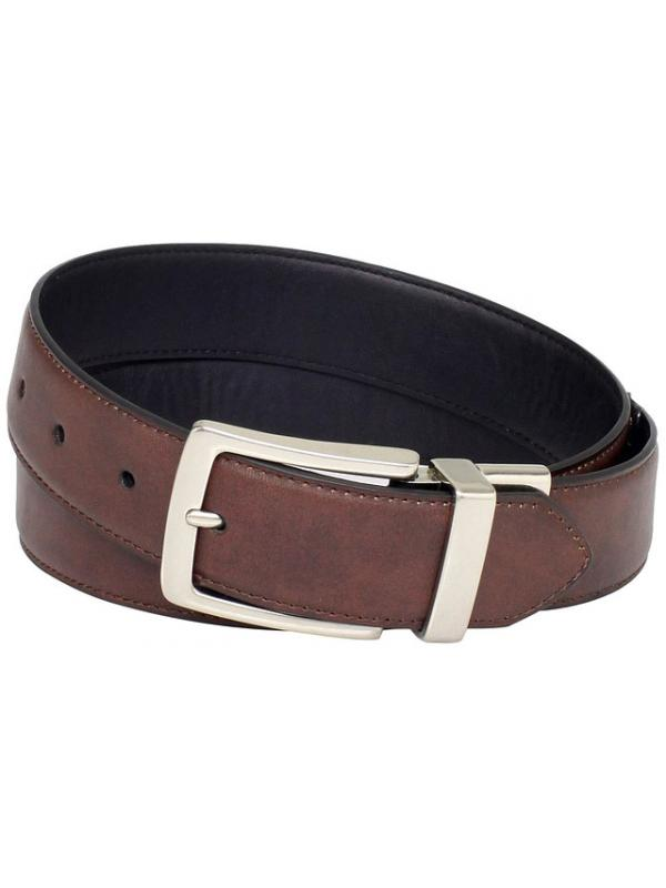 Ремень Levis Mens 35MM Reversible Belt With Silver Buckle new