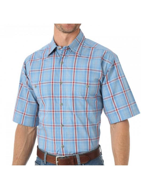 Рубашка Wrangler Rugged Wear Wrinkl e-Resistant Plaid Shirt - Short Sleeve