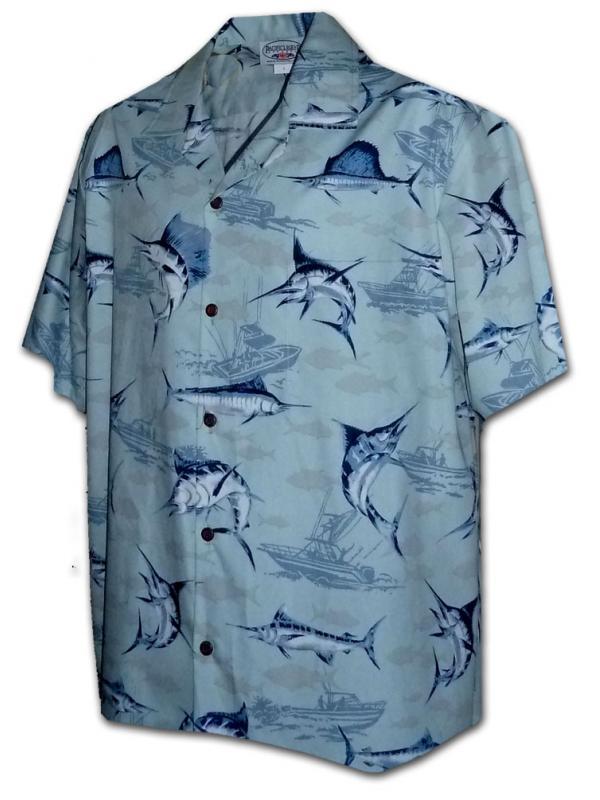 Гавайская рубашка Pacific Legend 442-3773 Slate