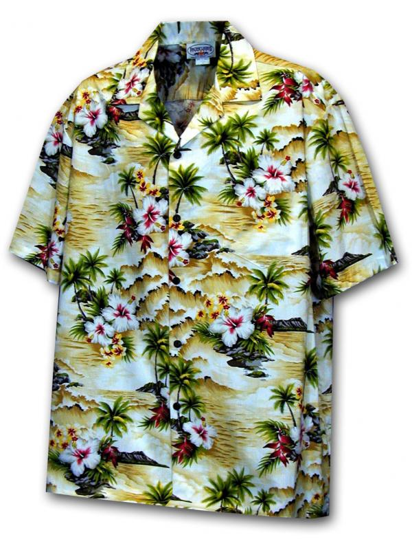 Гавайская рубашка Pacific Legend 410-3238 Maize