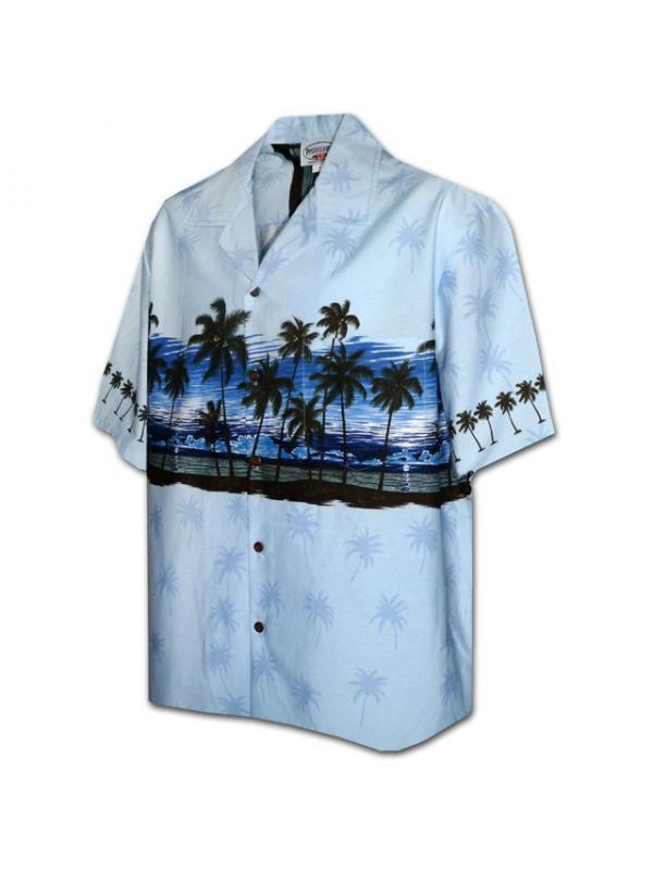 Гавайская рубашка Pacific Legend 440-3511 Blue