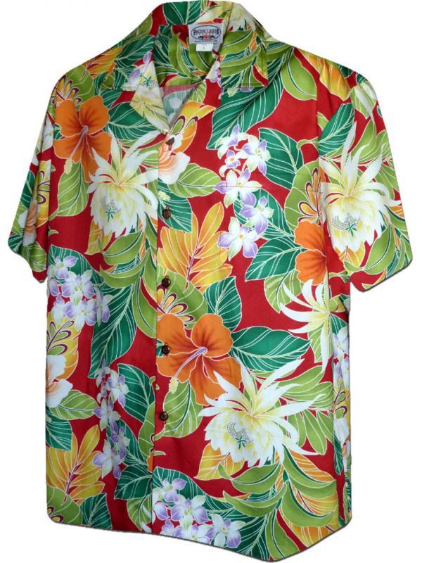 Гавайская рубашка Pacific Legend 410-3799 Red