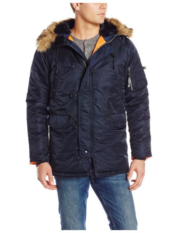 Куртка Alpha Slim Fit N-3B Parka - replica blue\orange