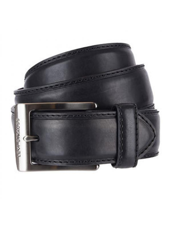 Ремень Levis Mens 35mm Black Leather Belt 11LV1272