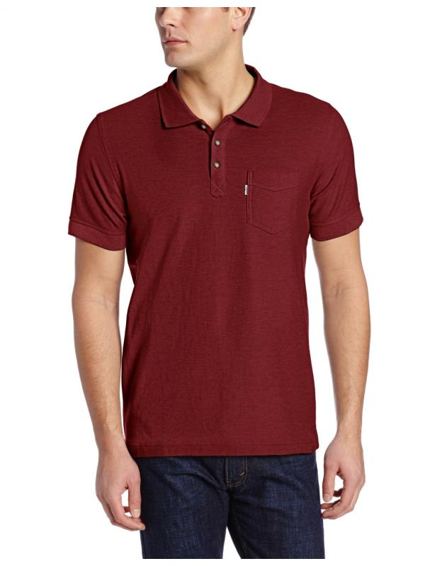 Levis Mens Brillo Pique Polo Red