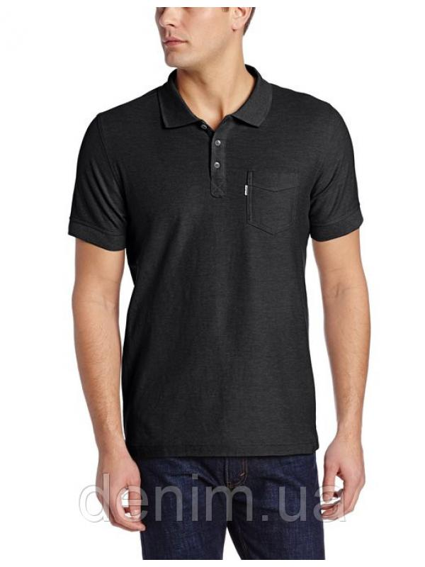 Levis Mens Brillo Pique Polo Caviar