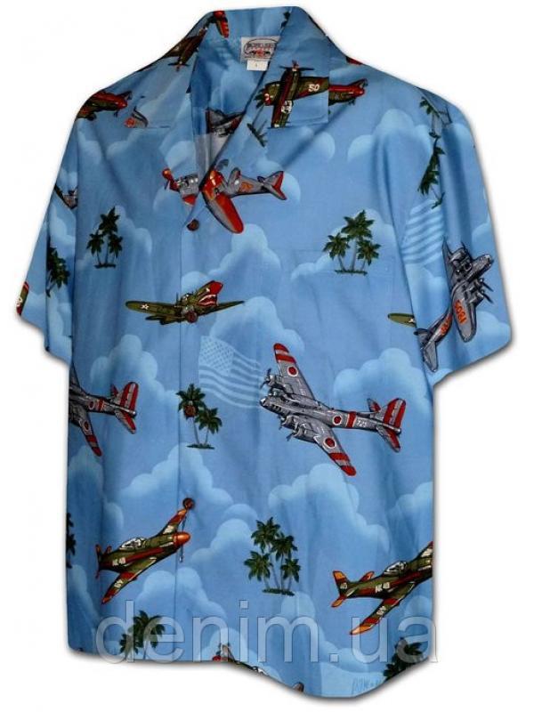 Рубашка гавайка Pacific Legend 442-3729  blue
