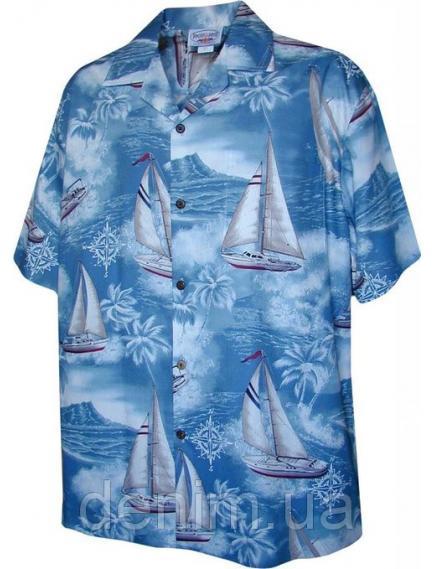 Рубашка гавайка Pacific Legend 410-3610 slate