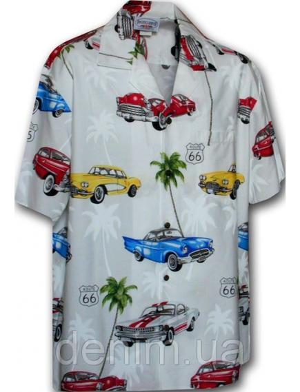 Рубашка гавайка Pacific Legend 442-3563 wihte