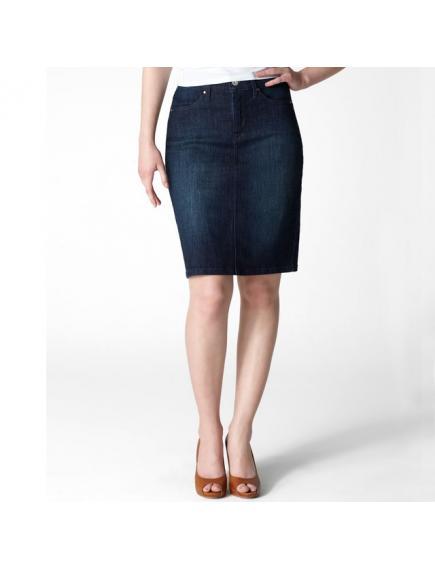 Женская юбка Levis Misses 512 Trouser Skirt — Indigo Velvet