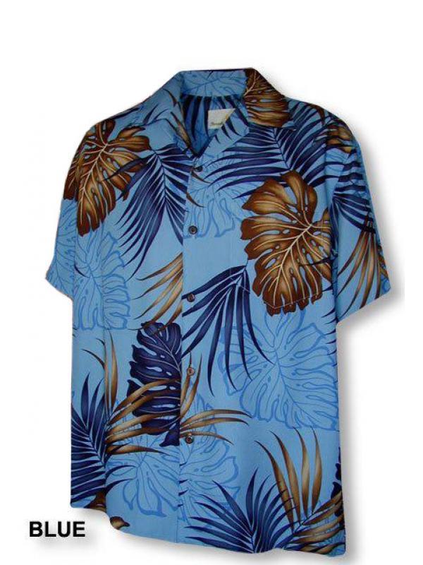 Гавайская рубашка Paradise Motion 470-103 blue