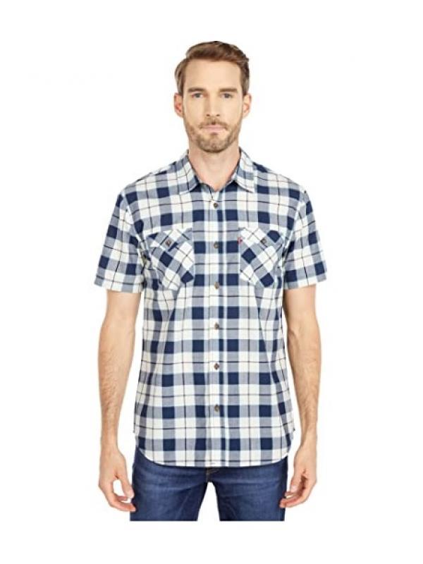 Рубашка Levis Knox Short Sleeve Woven Dress Blues